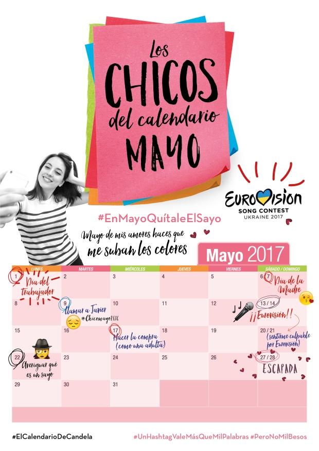 Calendario Mayo Candela